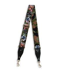 Valentino Butterfly Embroidered Camo Guitar Strap For Handbag Hunter