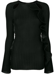 David Koma Cut Out Knitted Top Black