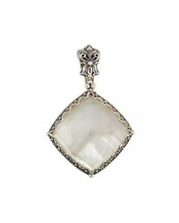 Konstantino Aura Silver And Mother Of Pearl Pendant Enhancer White