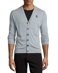 Moschino Button Front V Neck Cardigan Gray Women's Grey