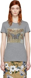Valentino Grey Vintage Butterfly T Shirt