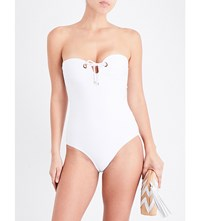 Jets By Jessika Allen Perspective Bandeau Swimsuit White