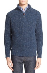 Inis Meain Men's Donegal Wool And Cashmere Quarter Zip Sweater