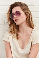 Urban Outfitters Disco Queen Rimless Sunglasses Purple