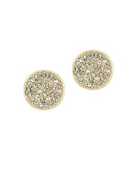 Laundry By Shelli Segal Crystal Pave Disc Stud Earrings