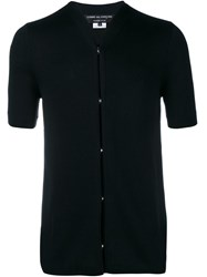 Comme Des Gara Ons Homme Plus Jersey Short Sleeve Cardigan Black