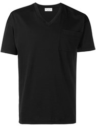 Ma'ry'ya V Neck T Shirt Black