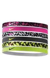 Nike Sport Headbands Pink 6 Pack Pink White