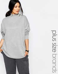 Pink Clove Lounge Slouchy Roll Neck Grey