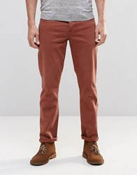 Asos Stretch Slim Jeans In Rust Friar Brown