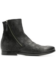 Silvano Sassetti Side Zip Ankle Boots Black