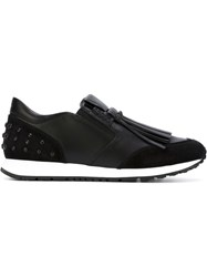 Tod's Fringed Low Top Sneakers Black