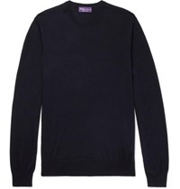 Ralph Lauren Purple Label Slim Fit Cashmere Sweater Navy