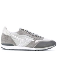 Mizuno Naos Trainers Men Cotton Leather Suede Rubber 42.5 Grey