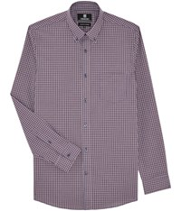 Austin Reed Wrinkle Free Red And Navy Mini Check Shirt