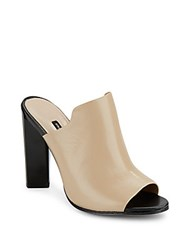 French Connection Meeka Leather Mules Almost Nude