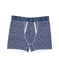 Original Penguin Single Boxer Brief Dark Denim Toss Men's Underwear Blue