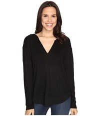 Sanctuary Faraday Henley Top Black Women's Clothing