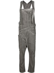 Barbara I Gongini Off Centre Fastening Dungarees Grey