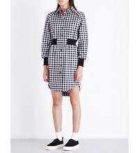 Opening Ceremony Esprit Checked Flannel Shirt Dress Blk Wht
