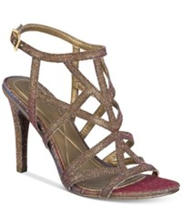 Kenneth Cole Reaction Women's Smash Ing Strappy Dress Sandals Women's Shoes Copper Multi