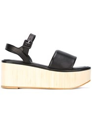 Robert Clergerie Platform Buckled Sandals Black