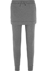 Dkny Skirt Overlay Cotton Sweatpants Gray