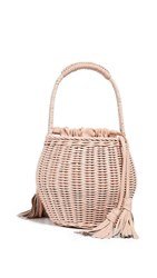Cleobella Daria Wicker Bag Blush