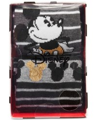Disney Women's 2 Pk. Mickey Mouse Crew Socks Gift Box Charcoal Heather