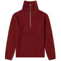 Acne Studios Korman Sporty Wool Rib Knit Red