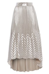 Coast Paige Pleat Maxi Skirt Silver
