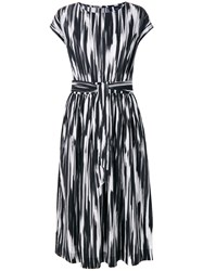 Woolrich Abstract Print Belted Dress Black