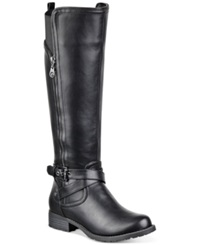 G By Guess Women's Halsey Tall Shaft Wide Calf Riding Boots Women's Shoes Black