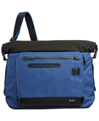 Tumi Men's Marino Roll Top Messenger Bag Blue