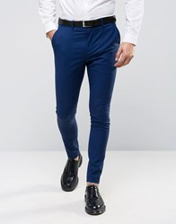 Selected Homme Super Skinny Tuxedo Suit Trousers Navy