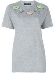 Marco Bologna Embellished Oversized T Shirt Grey