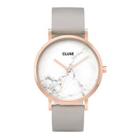 Cluse La Roche Rose Gold Tone And Marble Watch Grey