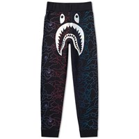 A Bathing Ape Pencil Neon Camo Shark Slim Sweat Pant Black