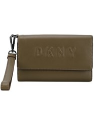 Dkny Debossed Logo Wallet Green
