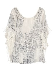 Mes Demoiselles Bambino Cotton Gauze Ruffled Top White