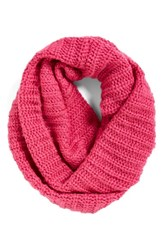 Women's Collection Xiix Ribbed Loop Scarf Pink Ultraviolet Pink