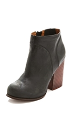 Jeffrey Campbell Hanger Leather Raw Bootie Black