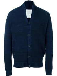 Stephan Schneider Stand Collar Knit Cardigan Blue