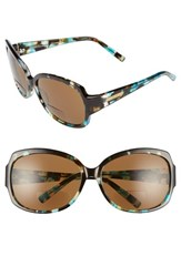 Women's Corinne Mccormack 'Elizabeth' 61Mm Reading Sunglasses Tortoise Turquoise