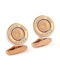 Ermenegildo Zegna Rotating Seal Cuff Links W Enamel Rose White Rose Gold