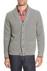 Wallin And Bros Elbow Patch Cardigan Gray