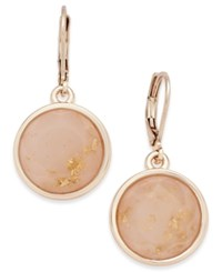 Charter Club Rose Gold Tone Pink Stone Drop Earrings Only At Macy's