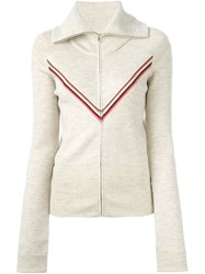 Isabel Marant Zipped Up Cardigan Nude And Neutrals