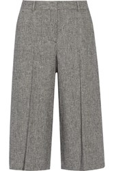 Theory Halientra Linen Crepe Culottes Gray