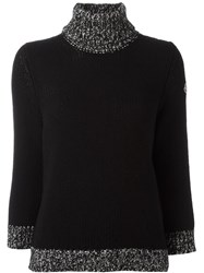 Moncler Ribbed Roll Neck Jumper Black